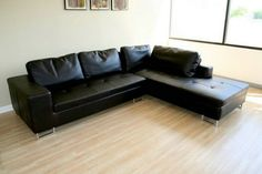 Sectional Sofa Sleeper With Black Leather