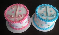 Twins First Birthday - Smash Cakes (Buttercream)