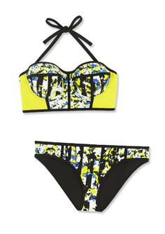 320f802459be6 Preview the Peter Pilotto x Target Collection - Bikini Top Bottom in Green  Floral Print