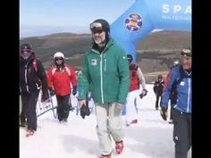El Rey Felipe VI en Sierra Nevada apoyando deportes invierno