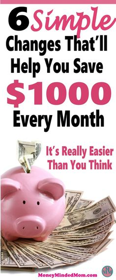 Saving an extra $1000 a month might seem like an impossible task, but it really isn't. Small changes go a long way to saving money, balancing your budget and managing money. Read on to learn how small changes can really add up to a huge amount of money saved. Saving Money   Money Saving Tips   Finance   Get Out Of Debt   saving money   money   saving money tips   money saving tips   money saving ideas   frugal living   thrifty living #savingmoney #money #finance