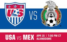 USA v MEX presented by ATT on Apr. 15 at the Alamodome in San Antonio. Ticket info coming soon. Live Soccer, Watches Online, Sport Watches, San Antonio, Mexico, Baseball Cards, Usa, Ticket, Sports