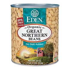 Great Northern Beans, Organic 29 oz. BPA free lined can. #EdenFoods