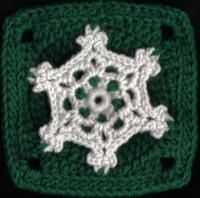 "Snowflake Lace Square 6""hx6""w inches (2 images) - Free Original Patterns - Crochetville"