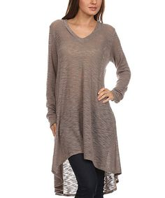Another great find on #zulily! Ash Burnout V-Neck Hi-Low Tunic #zulilyfinds