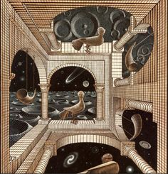 Print Gallery - Other World, 1947, M.C. Escher - WikiArt.org