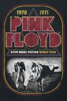 Music poster retro pink floyd Ideas for 2019 Atom Heart Mother, Poster Retro, Vintage Music Posters, Print Poster, Atomic Betty, Arte Pink Floyd, Pink Floyd Tour, Rock And Roll, Pink Floyd Poster