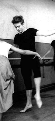 James Dean attending a dance class in New York City, 1955.photographed by Dennis Stock