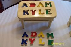 Personalized name stool - My son got this as a gift when he was just 2 and still loves it at 5!