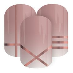 Cosmopolitan | Jamberry | Let your nails be an instant accessory with 'Cosmopolitan', featuring glam metallic rose gold lines over a blush-pink ombre.