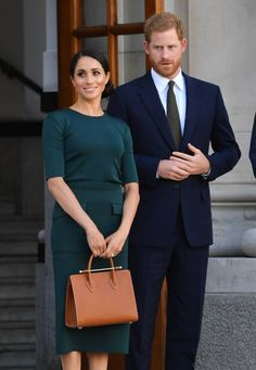 Prince Harry Duke of Sussex and Meghan Duchess of Sussex attend a meeting at the Taoiseach during their visit to Ireland on July 11 2018 in Dublin...