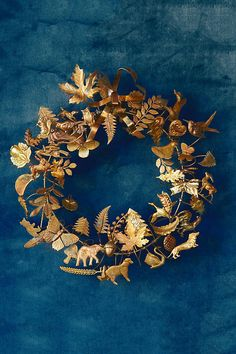 Slide View: 1: Dresden Ornament Wreath