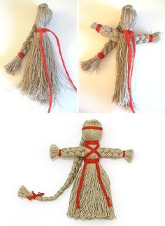I could make this doll with two types of yarn or thread. Burlap Crafts, Yarn Crafts, Yarn Animals, Hand Embroidery Art, Crafts For Kids, Arts And Crafts, Yarn Dolls, Christmas Ornament Crafts, Creative Crafts