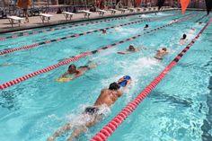 Swim laps at the Rose Bowl aquatic center.