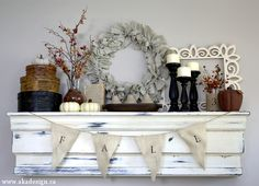 Fall Mantel | Seasons of Home Autumn Edition - http://akadesign.ca/fall-mantel-seasons-of-home-autumn-edition/