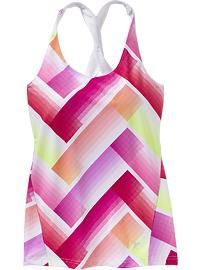 Women's Clothes: Activewear New Arrivals | Old Navy - I got a few of these and use them as swimsuit tops! They work great with the little black skirt bottoms and come in many different colors - I got this one and the black one...love them!