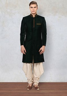 Yepme Abner Sherwani - Green #men #fashion #style #wedding #indian #royal #classy #outfit #yepme #collection #ethnicwear