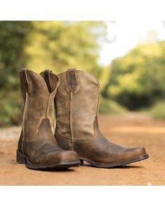 Ariat Men's Rambler Square Toe Cowboy Boot - Earth. 1st big boy boots.
