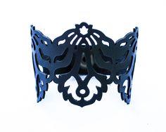 Laser Cut Leather Bracelet - Falling Leaves design £20.00