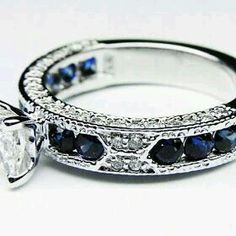 Sapphire and diamonds - I love the sapphires down the sides on this one.