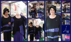 noir & bleu grec pour cette collection LA STAMPA tuniques, tops, jupe, leggings GI JO aime cette association de couleur et cet imprimé graphique en édition limitée bien entendu chez PARIS NEW YORK à SAINT-LO
