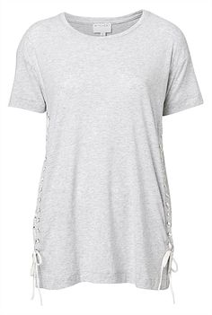 Lace Up Side Tee #WITCHERYSTYLE