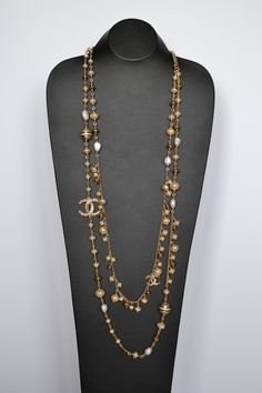 Flaunt fantastic!  Chanel Strass Balls Sautoirs Pearls Charms Necklace