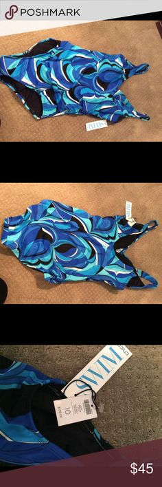 NWT Chico's swimsuit NWT Chico's one piece swimsuit size 10. Chico's Swim One Pieces