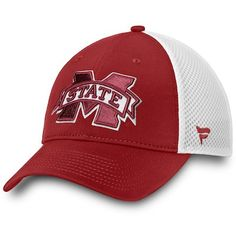 d119cf0ce592c Men s Fanatics Branded Maroon Mississippi State Bulldogs Iconic Maze  Trucker Adjustable Hat