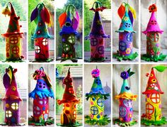 These Felt Fairy Houses are adorable and they are easy to recreate when you know how. We have a Felt Fairy House Tutorial so watch the video now.