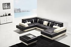 T286 Modern Leather Sectional Sofa