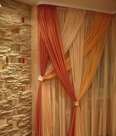 Home Interior Design — Overlapping sheers, very soft and romantic. - Ideas for the House - Curtain Diy Casa, Interior Decorating, Interior Design, Curtain Designs, Curtain Ideas, Home And Deco, My New Room, Window Coverings, Window Treatments
