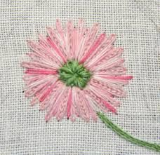 redoute cotton embroidered roses - Google Search