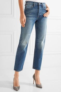 FRAME - Rigid Re-release Le Original High-rise Straight-leg Jeans - Mid denim - 30