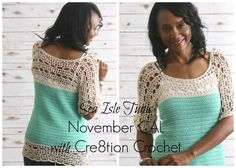 A Cre8tion Crochet Original Design Hi, I am so glad you have joined us to make this fun and flirty crochet tunic. This top is perfect for someone making a garment for the first time. This tunic is created in two panels, back and front. The two panels are then seemed together. I will be [...]