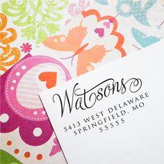 Custom Return Address Stamp, Self Inking Stamp, Wood Stamp, Wedding Present, Bridal Shower Gift, Housewarming Gift, Christmas Present (T55)
