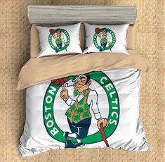3D Customize Boston Celtics Bedding Set Duvet Cover Set Bedroom Set Bedlinen - Three Lemons Hometextile