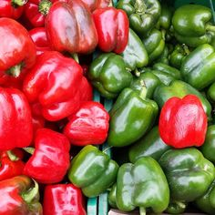 Red and greens #peppers in #Brooklyn! #farmersmarketnyc - Grand Army Plaza Greenmarket via quistyle on Instagram
