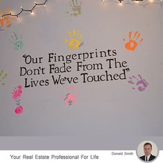 Our fingerprints don't face away from the people we've touched..