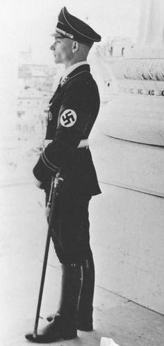 Heinz von Westernhagen in Rome, Italy in 1938. He later became Joachim Peiper's second in command