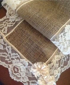 burlap and lace | Burlap and lace runners