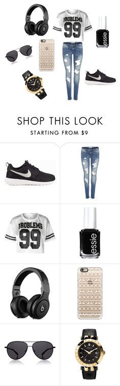 """""""Proper Out-Wear"""" by kionna-thompson ❤ liked on Polyvore featuring NIKE, Essie, Casetify, The Row, Versace, vintage and Favorite"""