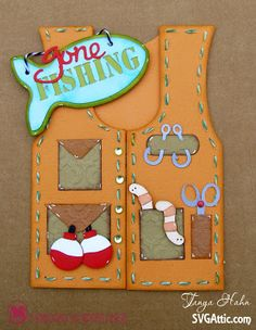 Fishing Vest Card
