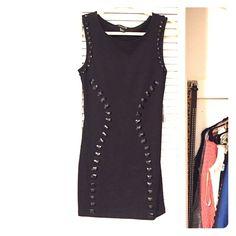 Black beaded dress LBD Black beaded tight black dress. Size small. Unworn with tags. Forever 21 Dresses Mini
