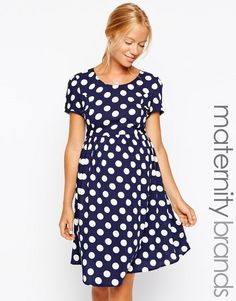 New Look Maternity | New Look Maternity Spot Tea Dress at ASOS