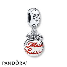 This elegantly crafted sterling silver bauble charm from the PANDORA 2016 Winter Collection carries the greetings of the season and will bring festive details and a sophisticated look to your bracelet or necklace design. Style # 792008CZ.