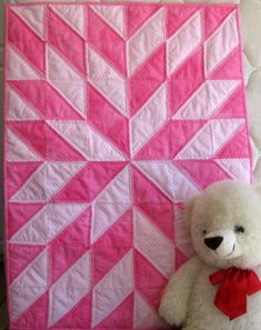 Reach for the stars - Startime Pink from The Baby Quilt Lady @ Unique Baby Quilt Boutique