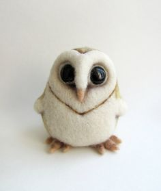 Hey, I found this really awesome Etsy listing at https://www.etsy.com/listing/171001167/needle-felted-barn-owl