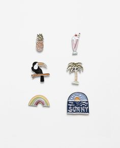 PACK OF 6 TROPICAL BADGES-View All-ACCESSORIES-WOMAN | ZARA United States