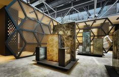 Royal Ceramica by Paolo Cesaretti | Architonic Exhibition Stall, Exhibition Display, Museum Exhibition, Stand Design, Booth Design, Display Design, Tile Showroom, Showroom Design, Design Museum